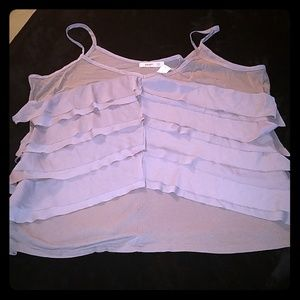 Old Navy gray tiered crepe tank XXL NWT